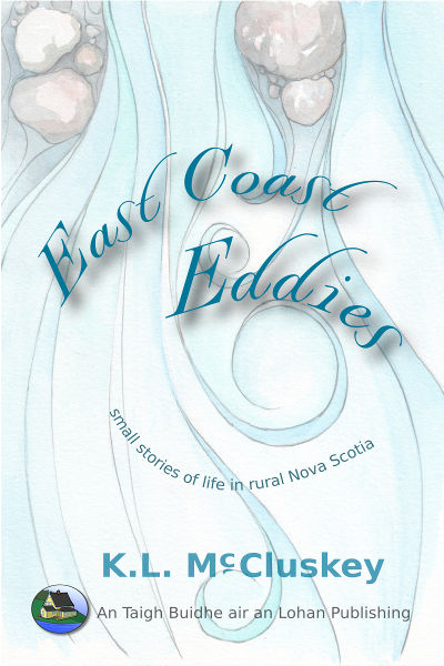 East Coast Eddies ebook cover. Water running with eddies as background behind title.