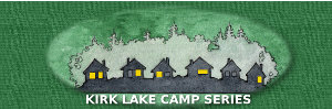 Logo for Kirk Lake Camp series of ebooks