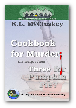 Cookbook for Murder: The Recipes from Three for Pumpkin Pie? ebook cover.