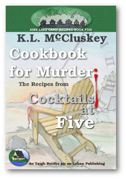 Cookbook for Murder: The Recipes From Cocktails at Five ebook cover.